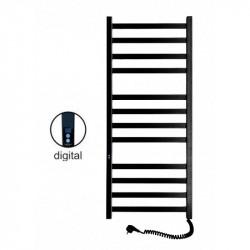 Электрический полотенцесушитель Santan Лестница Авангард 480х1200 (черный, правосторонний digital, таймер)