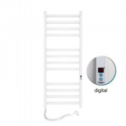 Электрический полотенцесушитель Santan Лестница Авангард 480х1200 (белый, левосторонний digital, таймер)