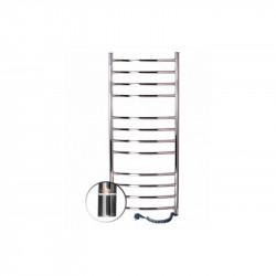 Электрический полотенцесушитель Santan Лестница Камелия 480х1200 (нерж. левосторонний с терморегулятором)