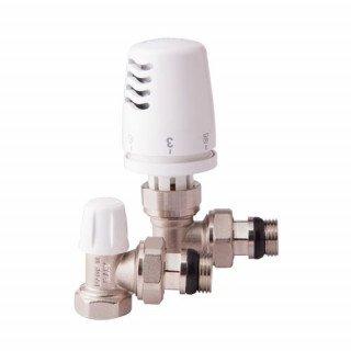 Комплект кранов c антипротечкой с термоголовкой радиаторный угловой ICMA 1/2'' KIT G 1100+774-940+805-940