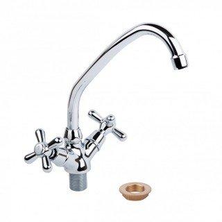Смеситель для кухни Q-Tap Dominox 271 (керамика, на гайке)