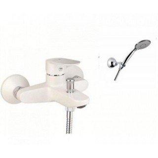 Смеситель для ванны Santan Kevon Chic 81BC8150 White (с душевым гарнитуром)