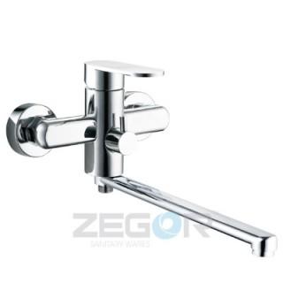 Смеситель для ванны Zegor LOB7-A128 (длинный нос, евро)