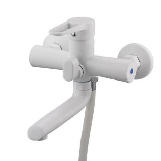Смеситель для ванны Zegor Pud3-A045 W (короткий нос, белый)