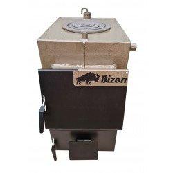Твердотопливный котел Bizon М-100П (10 кВт с плитой)