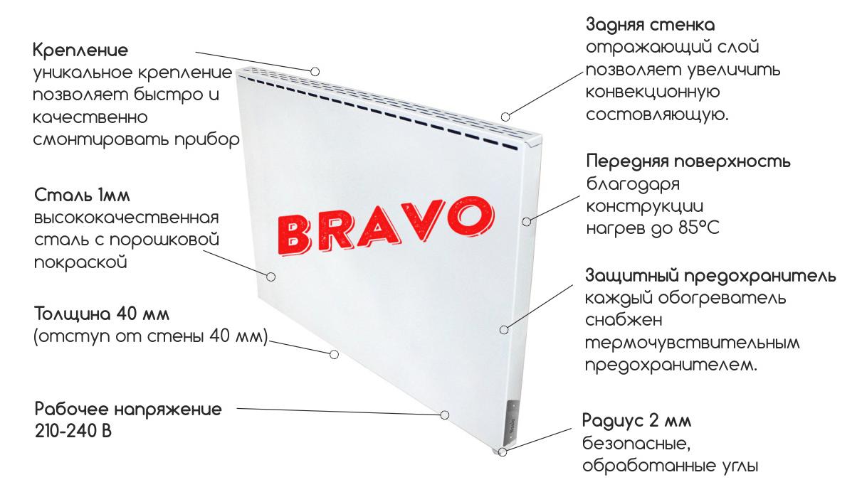 инфракрасный обогреватель Bravo Standart